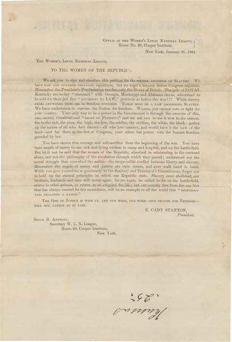 Petition Senators Letter From Ben Franklin To The Civil War Antislavery Petitions In Congress Pieces Of History