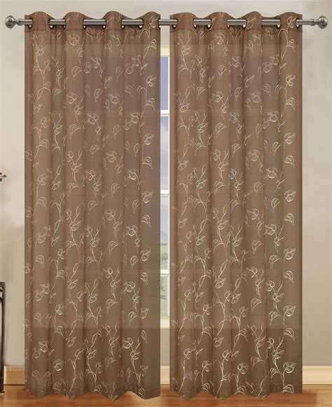 semi sheer curtains malverne semi sheer grommet curtain by lorraine home fashions view all curtains