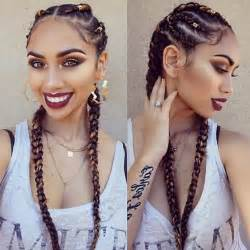 hairstyle with 2 shoulder braids best 10 colored box braids ideas on pinterest box braid