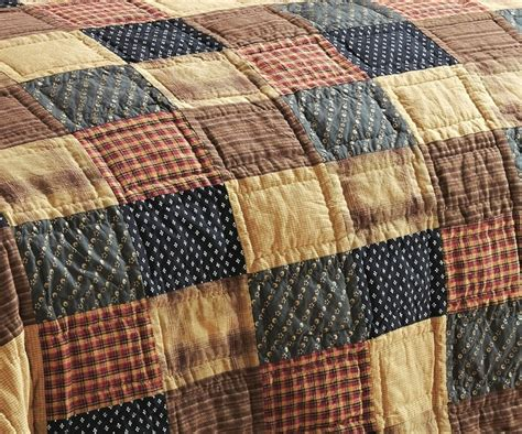Americana Quilt by Patriotic Patch Primitive Americana Quilt By Vhc Brands