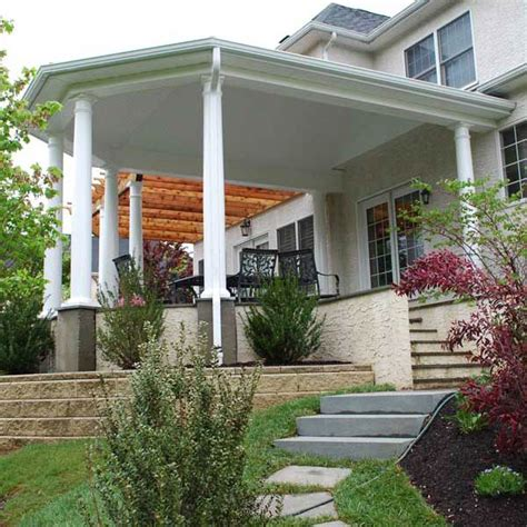 covered front porch plans custom designed covered porch archadeck outdoor living