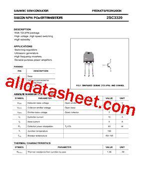 transistor company 2sc3320 datasheet pdf savantic inc