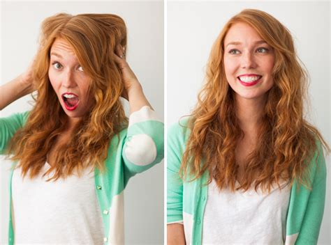 hair into small buns once dry remove buns and finger brush your hair hair hacks 3 foolproof ways to make waves brit co