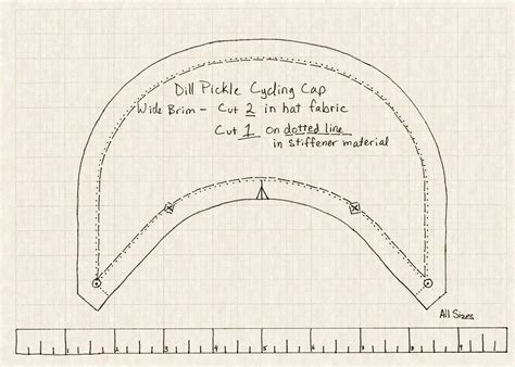 pattern to sew a welding cap projects dill pickle gear