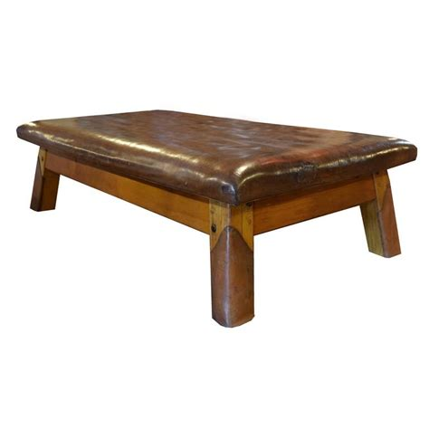 wood and leather bench wood and leather vaulting bench for sale at 1stdibs