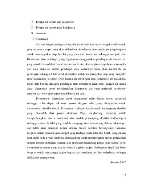 Adaptor Destilasi percobaan 1 destilasi dan ekstraksi
