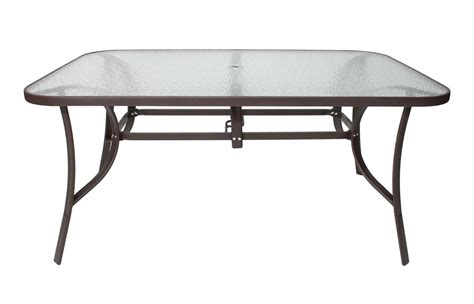 Glass Patio Umbrella Tables Fastfurnishings 48 Quot Glass Patio Glass Table