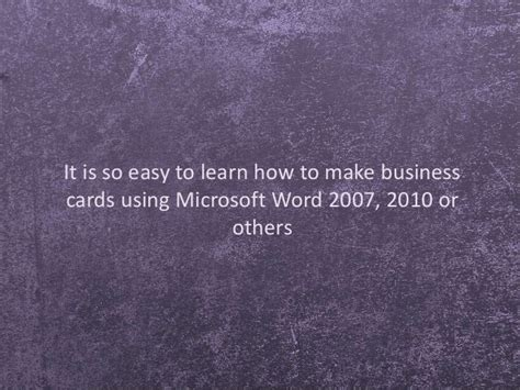 how to make business cards on microsoft word template make business cards using microsoft office choice image