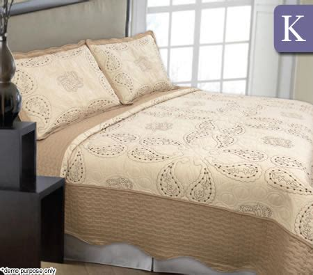 quilted coverlet king quilted microfibre coverlet king size paisley crazy