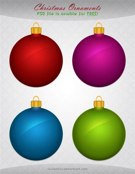 christmas ornaments free psd free download