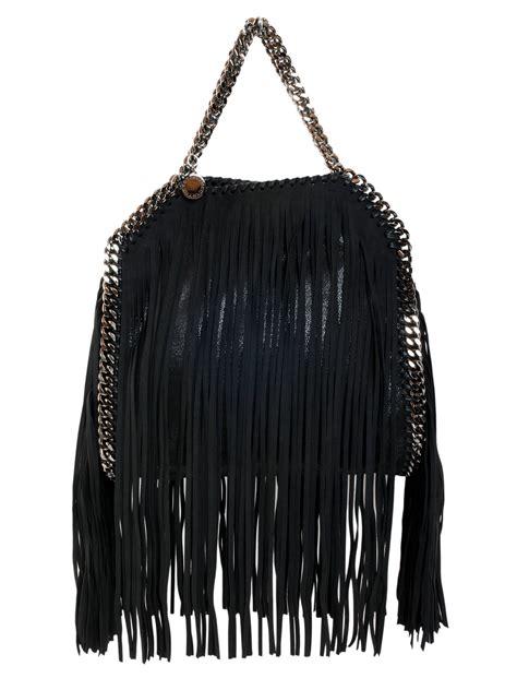 Stella Mccartney Bag stella mccartney fringed falabella bag in black nero lyst
