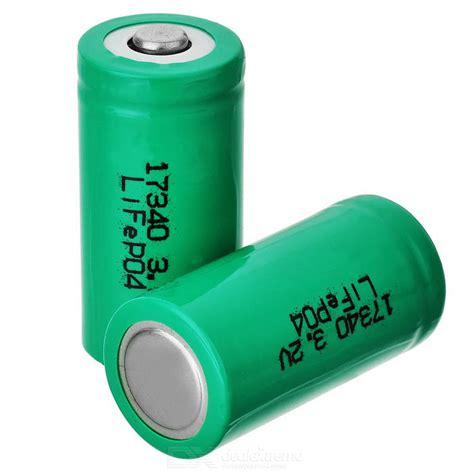best rechargeable cr123a lithium batteries 17340 cr123a rechargeable lithium lifepo4 battery 2pcs