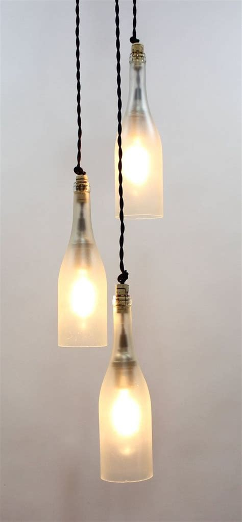 Wine Bottle Light Fixtures 3 Light Wine Bottle Pendant Fixture