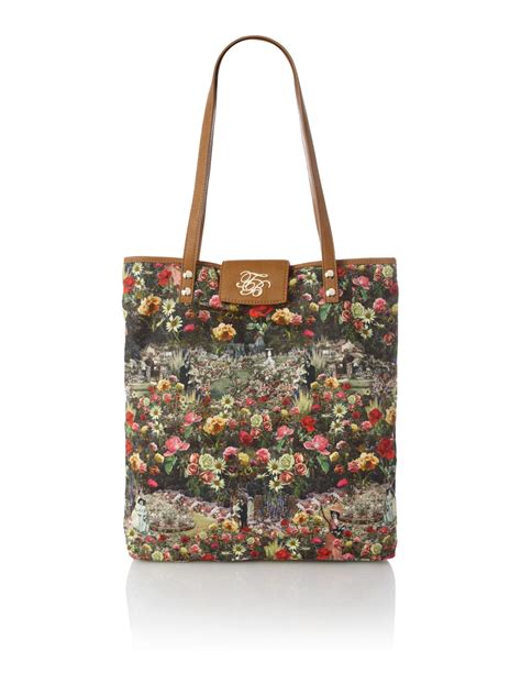 ted baker floral tote bag in multicolor multi coloured