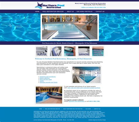 Pool Website Swimming Pool Website Templates Free