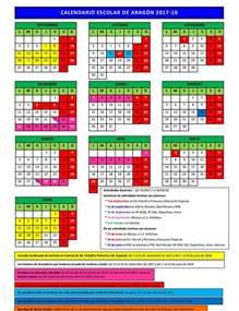 El Salvador Calendario 2018 Calendario Escolar De Arag 243 N En El Curso 2017 2018