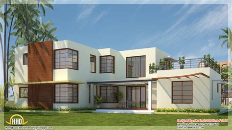 modern home blueprints beautiful contemporary home designs kerala home design