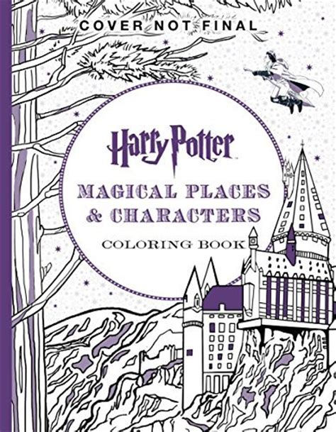 harry potter coloring book artifacts harry potter magical places characters coloring book