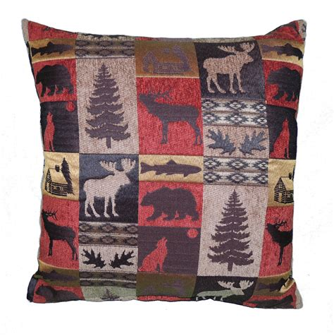 Lodge Throw Pillows by Rustic Cabin Collection Throw Pillow