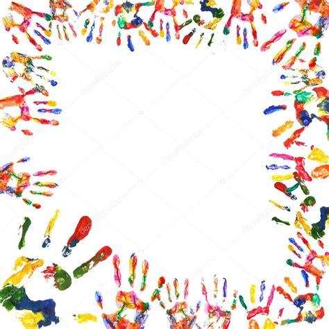 Bild Mit Rahmen Drucken by Rahmen Der Farbe Die H 228 Nde Zu Drucken Stockfoto