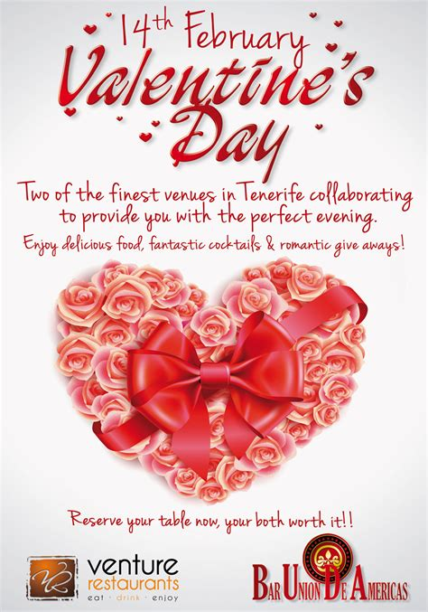restaurants for valentines is in the tenerife air at venture restaurants