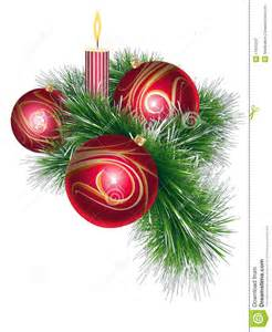 christmas balls with tinsel and candle royalty free stock