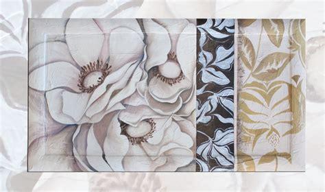 quadri moderni con cornice quadro moderno fiori bianchi con cornice 64 vendita