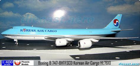 model aircraft boeing b 747 8htfscd korean air cargo hl7610 by diecast aero