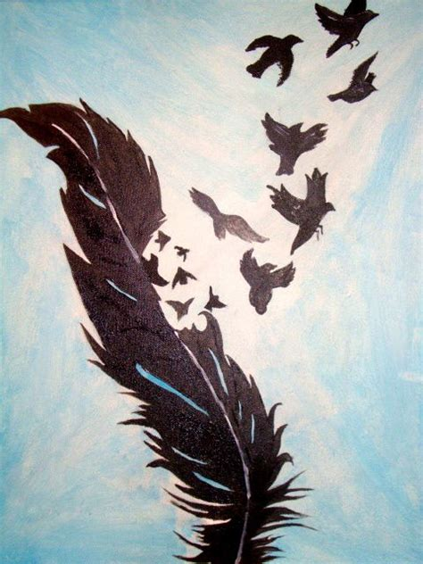 Acrylic Painting Birds Of A Feather Painting