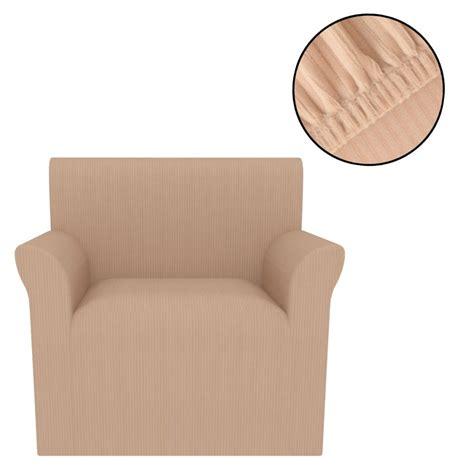 housse fauteuil beige acheter vidaxl housse extensible de fauteuil larges