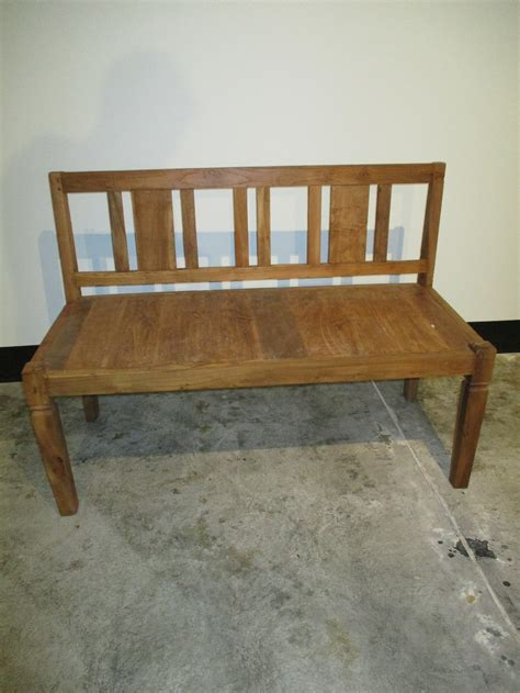 teakwood benches teak wood bench nadeau charleston