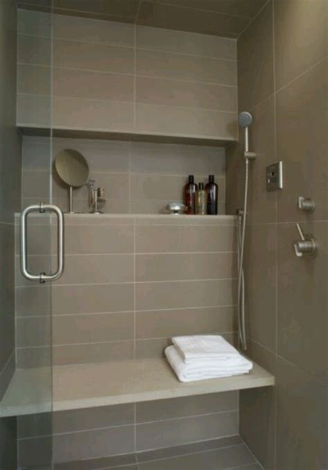 shower shelf large tile bench main bath pinterest