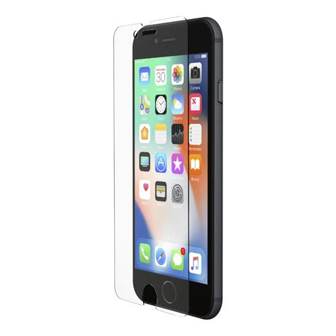 belkin screenforce 174 tempered glass screen protector for iphone 8 7 6s 6