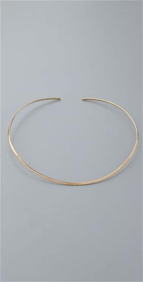 zeuner thin choker necklace in gold lyst