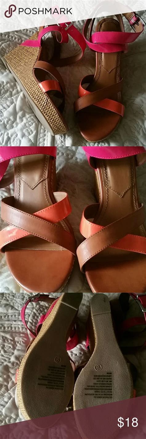 Orange Wedges By C Boutique 1000 ideas about summer wedges on wedge heels
