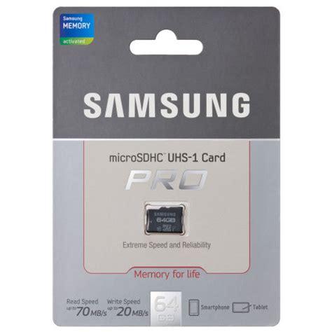 Memory Samsung Pro 64 Gb 10 Uhs I 90mb S Class 10 Pro Micro Sdhc Card samsung 64gb uhs 1 grade 1 microsdxc pro class 10
