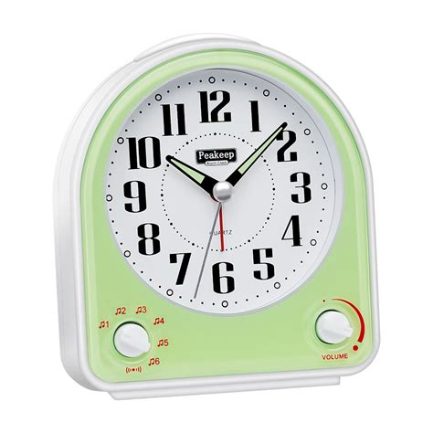 peakeep non ticking silent alarm clock optional 7 up sounds with volume co ebay