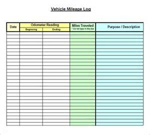 mileage form templates image gallery mileage log