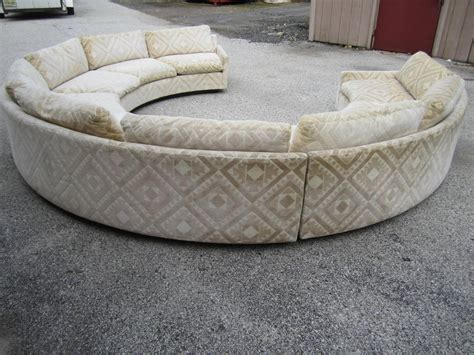 circular couches for sale spectacular three piece milo baughman circular sofa mid