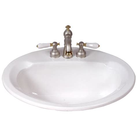 menards bathroom sink mansfield maverick ii drop in bathroom sink 8 quot center at