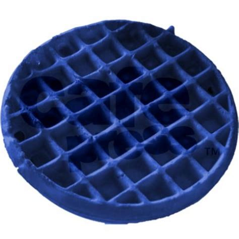 blue colored waffle photography blue waffle necklace by