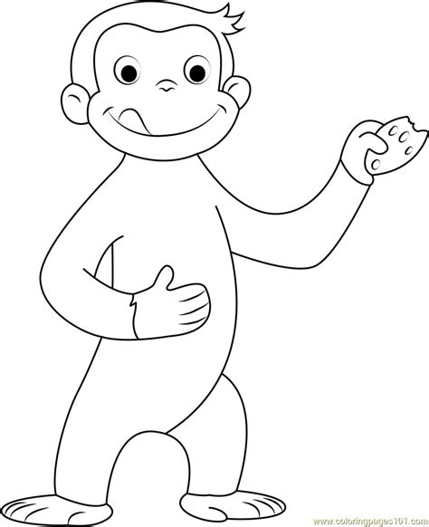 curious george coloring page free curious george