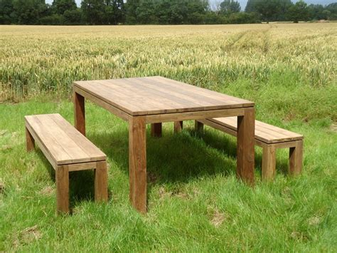 outdoor bench and table set bali reclaimed teak bench set dark wash