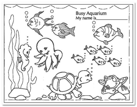 coloring page fish tank busy aquarium coloring sheets