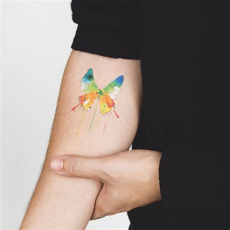 papillon aquarelle tattoonie tattooforaweek com