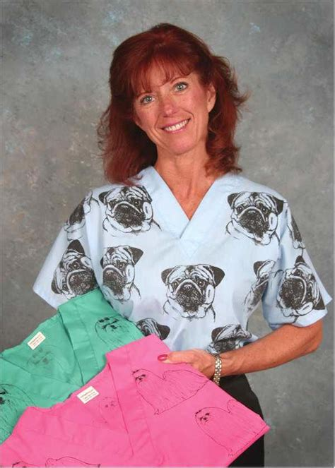 pug tops pug scrub top pug