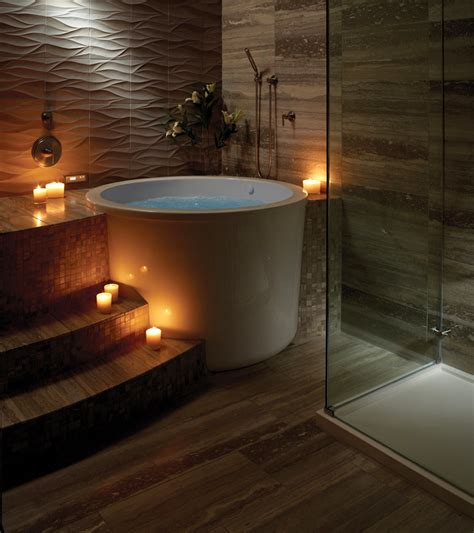 Traditional Japanese Bathtub by Inspiring Zen Interiors To Make You Relax