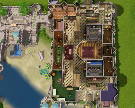Halliwell Manor Floor Plan mod the sims the fantasy mansion no cc