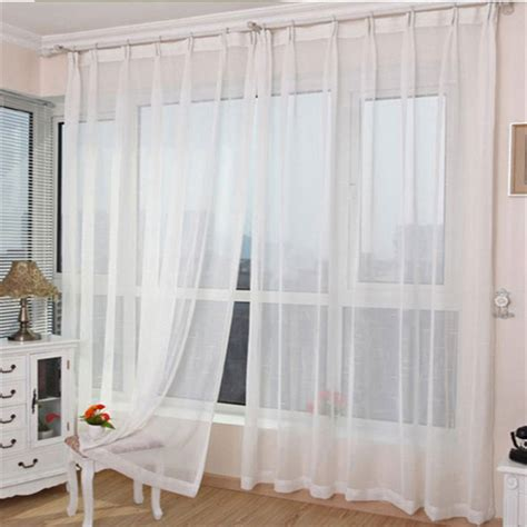 white living room curtains white sheer panel curtains are suitable for living rooms