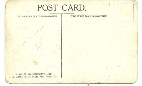 Great Paper Post Cards Template by Peeking Into The Past More World War 1 Vintage Postcards